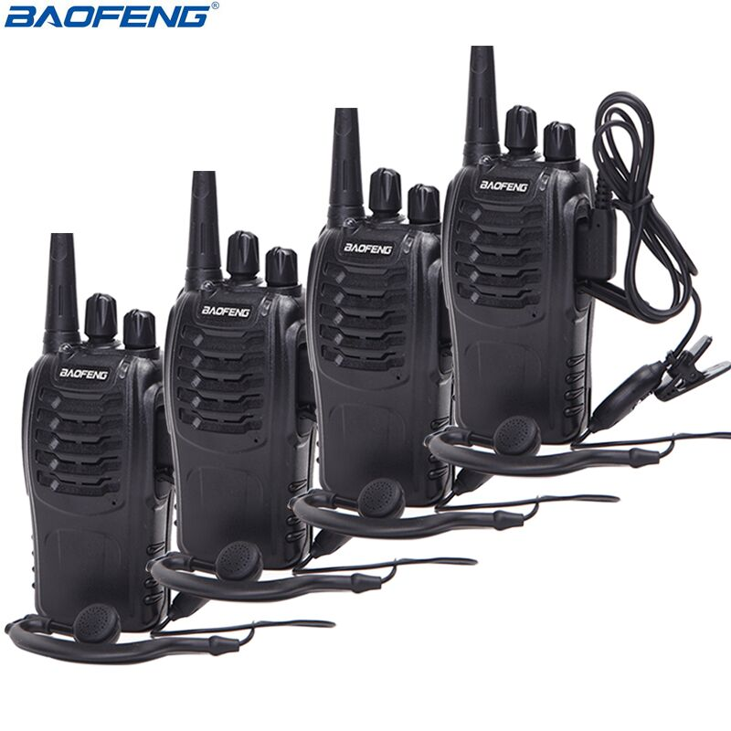 4Pcs Baofeng BF 888S Walkie Talkie UHF Two Way Radio BF888S Handheld Radio 888S Comunicador Transmitter