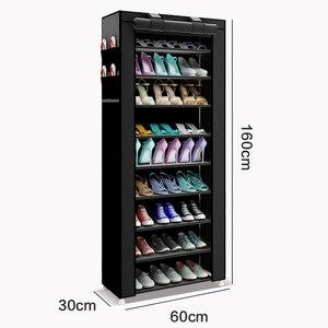 Image 3 - 43.3 cal 6 warstwa 12 grid nietkane materiały duży organizator na buty w formie regału wymienny do przechowywania butów dla dom umeblowanie szafka na buty