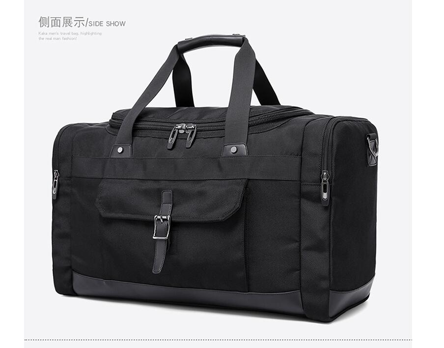 KAKA Large Capacity Men Travel Bags Waterproof Travel Duffel Bags Oxford Male Multi function Business Handbags Shoulder Bags