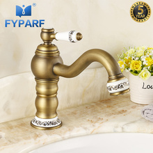FYPARF Basin Faucet for Bathroom Sink Faucet Single Handle Cold and Hot Water Basin Mixer Waterfall Sink Mixer Tap Bathroom Taps luxury led light waterfall basin sink faucet tap dual handle widespread bathroom tub sink mixer with hot and cold water