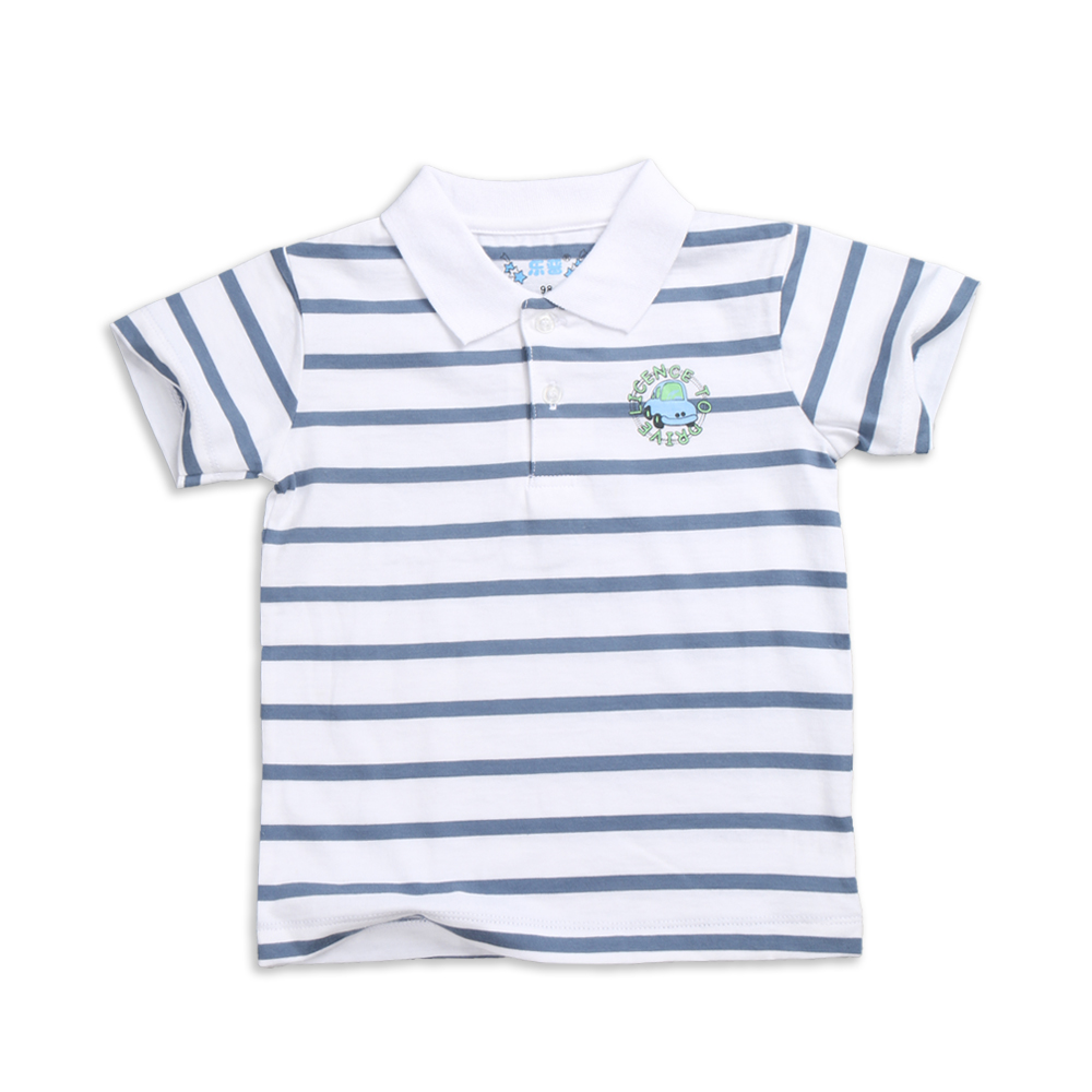 8303395fe055 Baby Boys Turn-Down Collar Striped Polo Shirt in Summer in 100% Cotton  Knitted