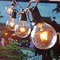 Patio de Luces G40 Mundo Fiesta de Navidad Luz de la Secuencia, Blanco Cálido 25 Clear Vintage Bulbos 25ft, Decorativo Al Aire Libre Patio Trasero guirnalda
