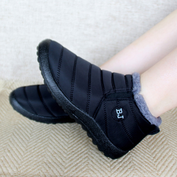 rojo Caliente Dentro Felpa De Las Sólido Mujeres Nieve Mantener Color Invierno azul Fondo Peluche Antideslizante Botas Negro Impermeable Nuevas Zapatos Esquí 2018 P1aA7qq