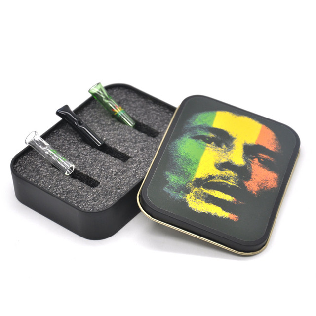 COURNOT Smoking Glass Reusable Cigarette Filter Tips Cigarette Holder Mouthtips Glass Snuff Mouth Tips Tobacco Box