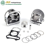 Cylinder kit Assembly Cylinder Head Performance Kit GY6 50cc 80cc 100cc 139QMB 137QMA Scooter 39mm 44mm 47mm 50mm with 64 valves