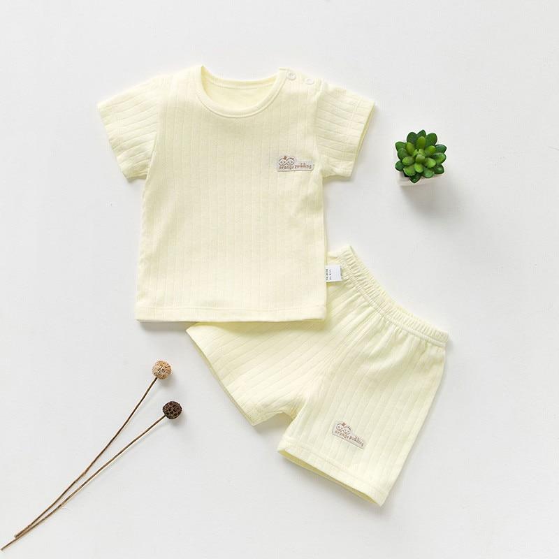 Katoenen Babykleding Set Zomer Baby Meisjeskleding Korte Mouw Baby - Babykleding - Foto 4