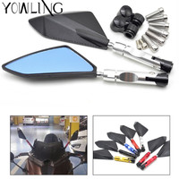Universal motorcycle Scooter Rearview Mirrors for yamaha YZF R125 R15 R25 r 125 15 25 mt 07 mt 09 mt 07 09 MT 09 FZ07 FZ09 MT 10