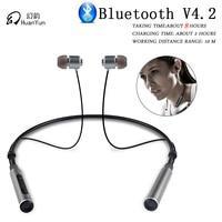 HuanYun Wireless Bluetooth Earphone Neckband Sport Stereo Bass Running Portable Bluetooth Headphone Headset With Mic
