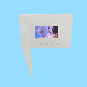 Image 2 - 4.3 cala nowe broszury wideo karty do prezentacji cyfrowy odtwarzacz reklamowy 4.3 calowy ekran wideo kartka z życzeniami 256m na sprzedaż