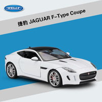 WELLY 1:24 High Simulation Model Toy Car Metal JAGUAR F Type Coupe Alloy Classical Car Diecast Car Toy For Boys Gifts Collection