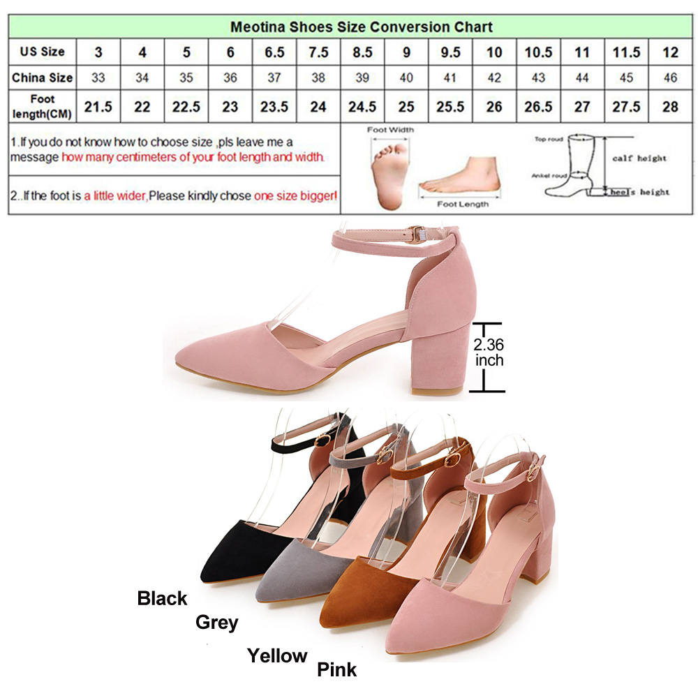 High Heels Women Pumps Two Piece Thick Heels Ladies Party Pink Shoes Summer Buckle Ankle Strap Footwear 5