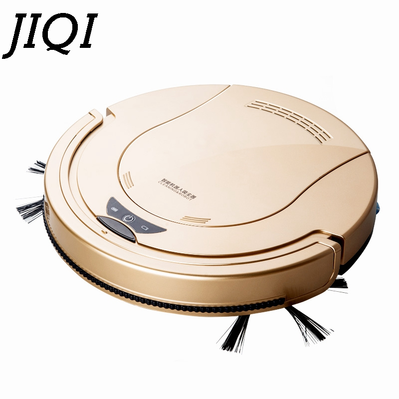 JIQI Electric Robot Vacuum Cleaner Home use HEPA Filter Remote Mopping chargeable Sweeping Dust Dry Cleaning aspirator 110V 220V 2018 original xiaomi mi robot vacuum cleaner for home automatic sweeping dust sterilize smart planned mobile app remote control