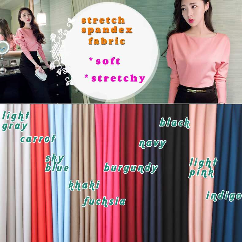 "Stretch Spandex Fabric Strikkad Fabric Jersey Scuba Fabric Kjol Bikini Swimwear Dress 60 ""Sold By The Yard Gratis frakt"