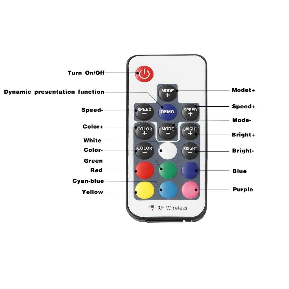 24key Télécommande 72 W 12 V 6 A Mini RGB DEL IR contrôleur à distance de contrôle