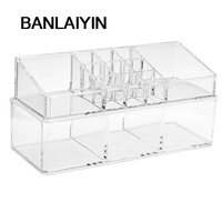 WholeTide 5 AUAU Acrylic Cosmetic Display Stand Storage Case Makeup Double Deck