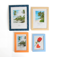 Plastic Photo Frames For Picture Vintage Wood Board Display Wedding Photo Paper Picture Stand Table Shelf Best Gift