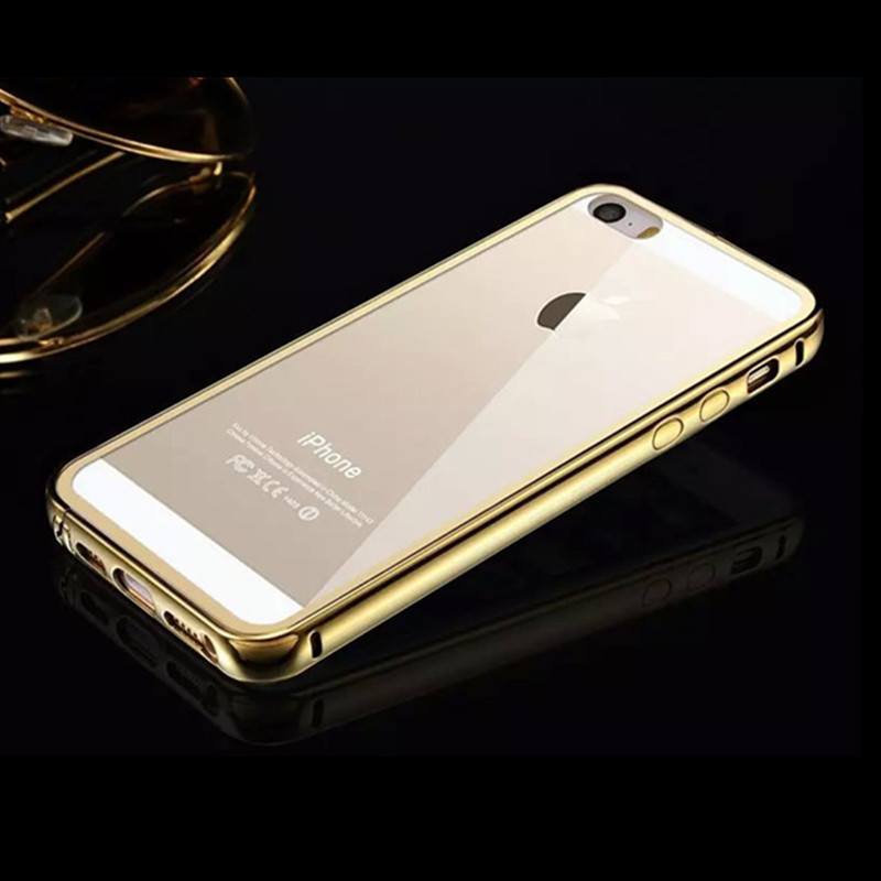 check out 84354 3bbf0 US $13.99 |For Iphone 5 Case,Luxury Gold 24K Gold plating aluminum frame +  Acrylic PC Clear Back Cover Covers For Iphone 5 5s Case Fundas on ...