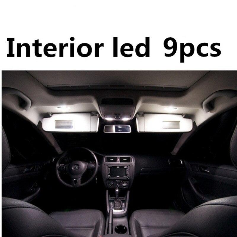 tcart 9 pcs sans erreur de voiture led intrieur lumire kit auto led ampoules blanc lampes pour volkswagen vw jetta mk6 vi accessoires 2011 2016