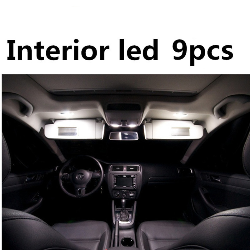 Tcart 9pcs Error Free Car LED Interior Light Kit Auto Led Bulbs White Lamps For Volkswagen VW Jetta MK6 VI accessories 2011-2016 tcart 7pcs free shipping error free auto