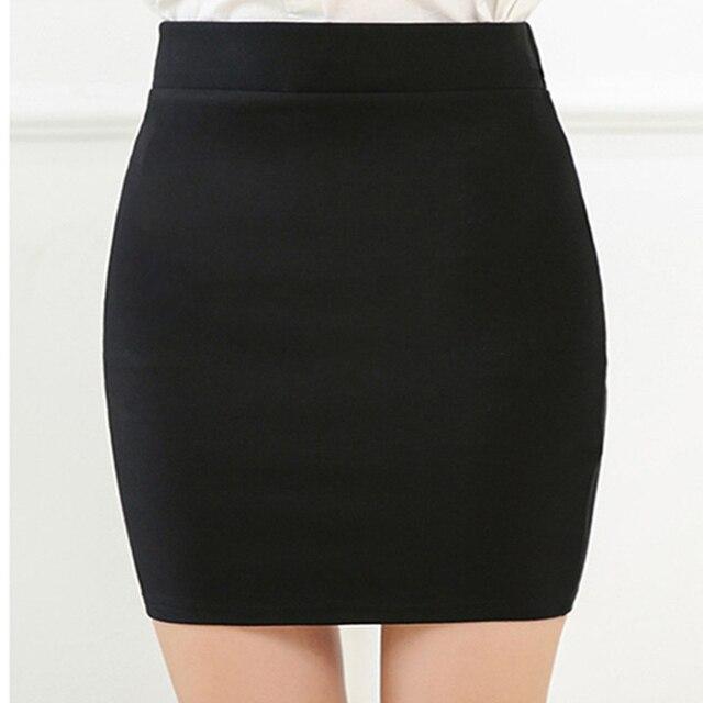 新ファッション春オフィス基本スカートペンシルスカートハイウエストストレッチスカート