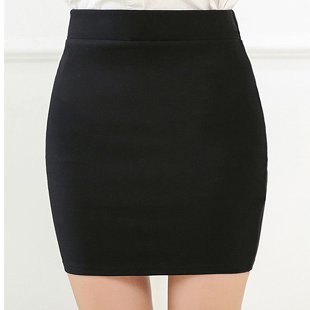 New Fashion Spring Office  Basic Skirts  Pencil Skirt High Waist  Stretchy Skirts