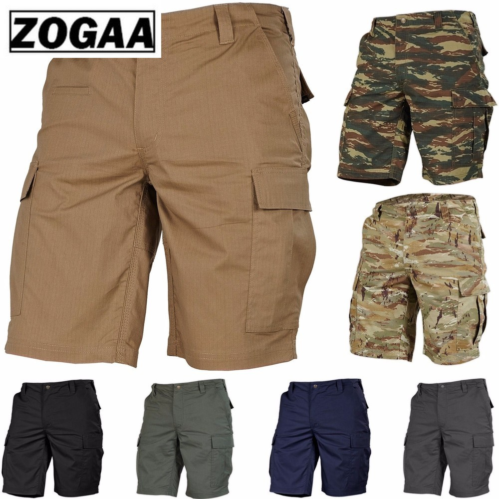 ZOGAA Men Shorts Pants Tactical Military Army Cargo Shorts Hiking Combat Camo 2018 NEW Male Casual Large Size Mens Sweatpants
