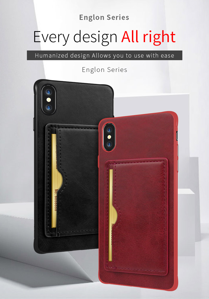 Luxury money wallet leather phone case for iphone 6 6s 7 8 plus X XR XS MAX cover with card slot in Half wrapped Cases from Cellphones Telecommunications