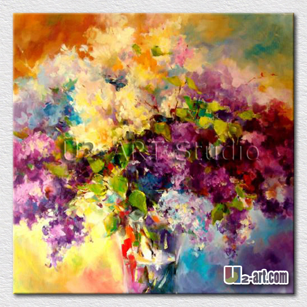 Modern home decorative garden flower oil painting canvas arts for living room decoration wall pictures gift