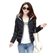 Winter Jacket Women Cotton Short Jacket Fashion 2016 Girls Padded Slim Plus Size Hooded Parkas Female Coat