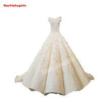 54220 Sleeveless Princess Party Champagne Train Ball Gown