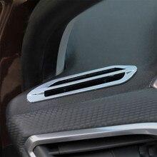Carmilla автомобиль хром кондиционирования воздуха, устанавливаемое на вентиляционное отверстие в салоне автомобиля на выходе украшения отделкой AC Vent Стикеры для peugeot 2008 208- для укладки волос