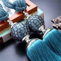Ein paar luxus-haus Dekoration Fenster vorhang clips zubehör Hängen Gürtel Ball vorhang riemen Vorhang quaste raffhalter Schnalle