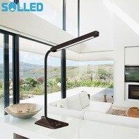 SOLLED 8W Wood Grain Desk Lamp 48 PC LG LEDs 5 Colors And 5 Levels Brightness