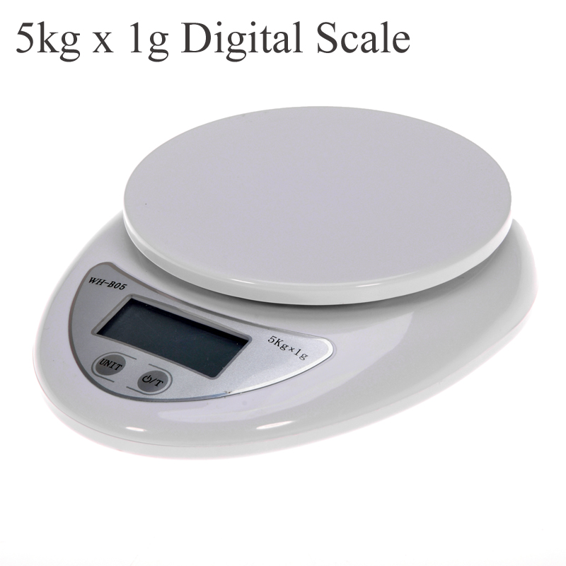 Portable 5kg x 1g Digital Scale LCD Electronic Scales Steelyard Kitchen Scales Postal Food Balance Measuring Weight Libra kronasteel bella 600 inox