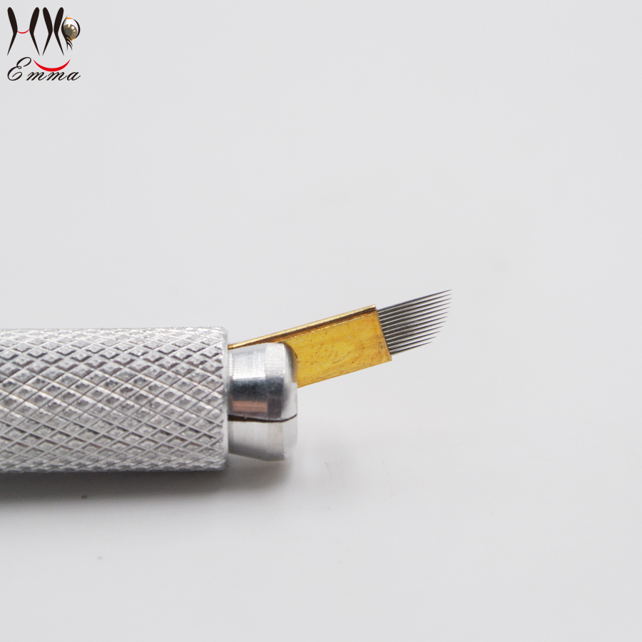 100 piezas cuchillas superiores para maquillaje permanente solo - Tatuaje y arte corporal - foto 2