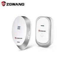 Zgwang Новый Водонепроницаемый Беспроводной звонок комплекты нам Тип с Открытый передатчик + крытый приемник 32 куранты Батарея домой дверной звонок