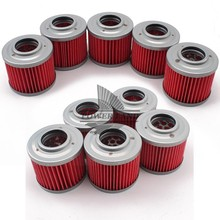 Fits for BMW 11 41 2343118 G650GS 650 F650 125 RT 604 650 BB1 Biposto 10pcs Red Motorcycle Engine Oil Filter Machine Filter сумка bb1 bb1 mp002xw13lng
