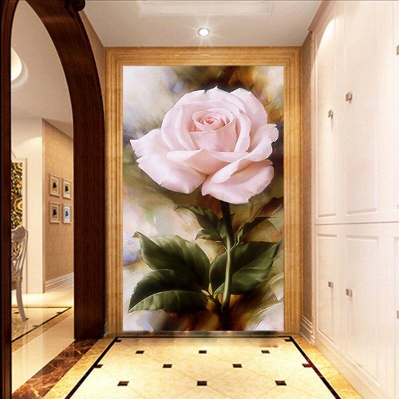 ᓂbeibehang Européenne Peinture Fond 3d Papier Peint Roses