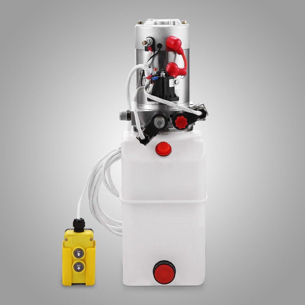 Гидравлический В насос OrangeA 6 Quart с двойным действием 12 в пластиковый резервуар для прицепа самосвала с дистанционным управлением