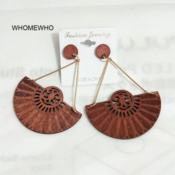 Gold Engraved Coffee Wood Flower Fan Africa Bars Afro Earrings Vintage African Jewelry Wooden DIY Hollow.jpg 350x350 - Gold Engraved Coffee Wood Flower Fan Africa Bars Afro Earrings Vintage African Jewelry Wooden DIY Hollow Out Tribal Accessories
