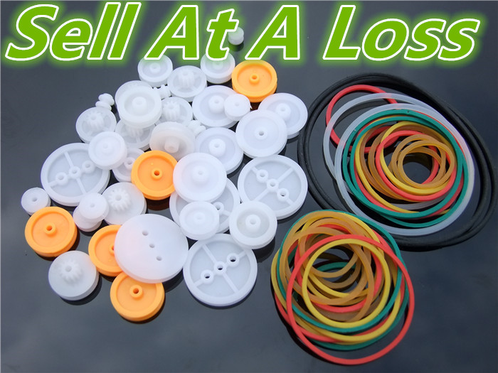 K016B Lot of DIY Plastic Belt Wheel Sets With Drive Belt Pulley Model Fitting Sell At A Loss USA Belarus Ukraine 10pcs g45 usb b type female socket connector for printer data interface high quality sell at a loss usa belarus ukraine