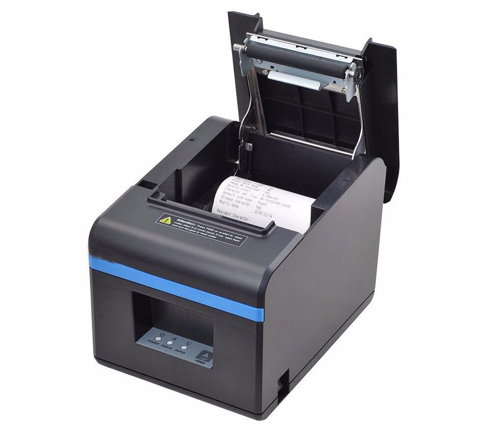 Nouveau arrivé 80mm unité de découpage automatique thermique imprimante de reçus POS imprimante avec usb/port ethernet pour Hôtel/Cuisine/Restaurant