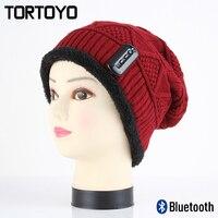 New Winter Wireless Bluetooth Earphone Hat Smart Headset Headphone Speaker Mic With Microphone Warm Woolen Headgear