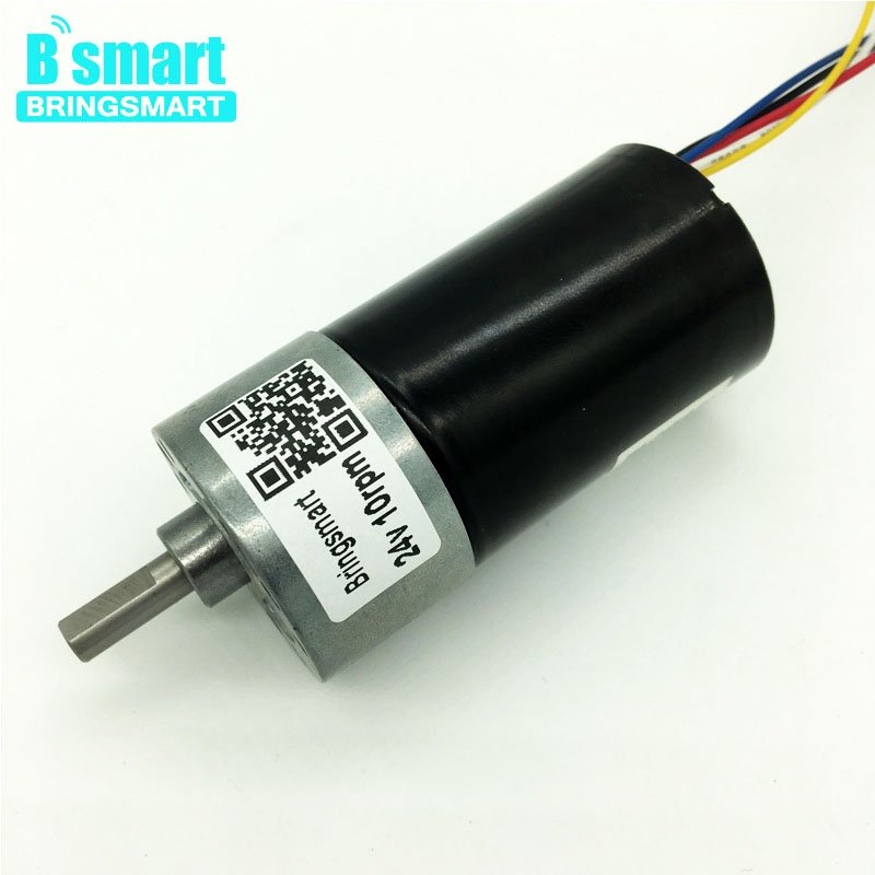 Bringsmart JGB37-3650 Low Speed Brushless 24 volt DC Electric Motor High Torque Gearbox Reduction 25W for Curtain or DIY Parts factory direct fc 3650 brushless dc gear motor high quality high torque output