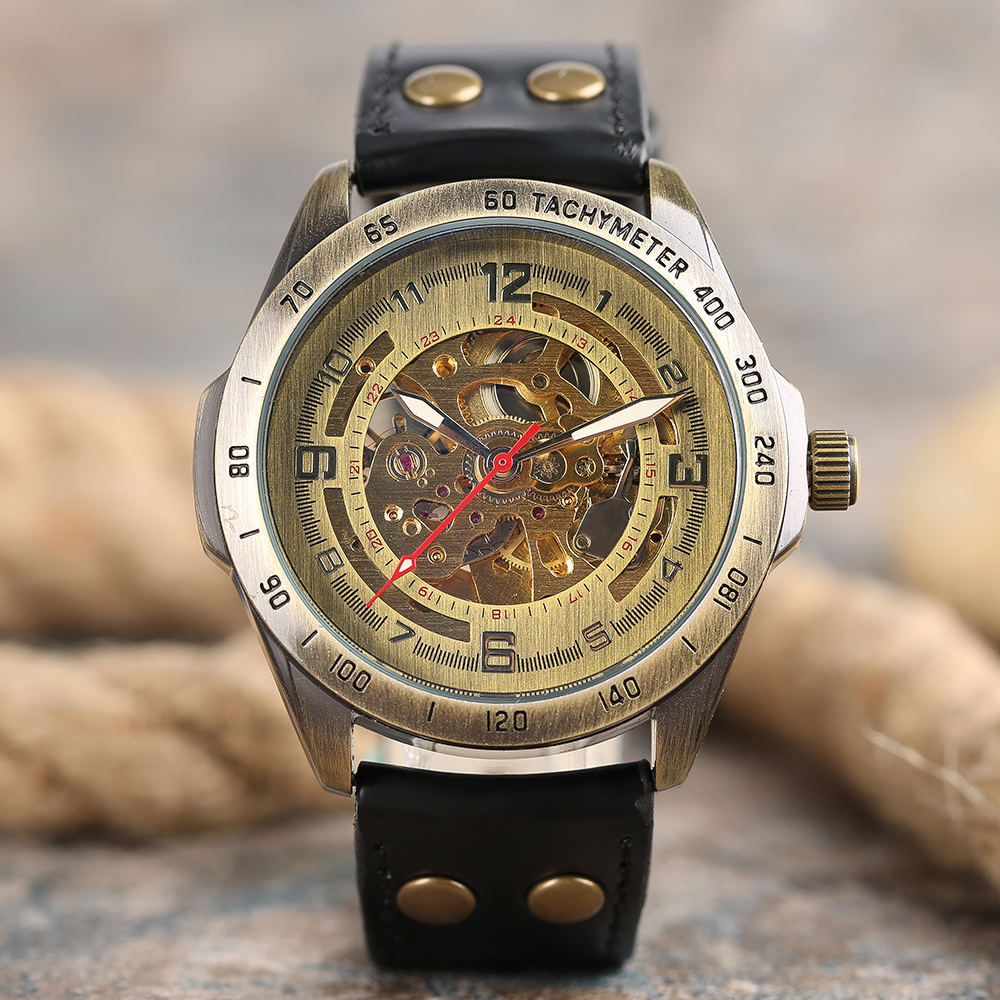 Top SHENHUA Vintage Auto Mechanical Watch Men Analog Hollow Man's Wrists Watches Self-Wind Male Clock Relogio Masculino 2017 ks black skeleton gun tone roman hollow mechanical pocket watch men vintage hand wind clock fobs watches long chain gift ksp069