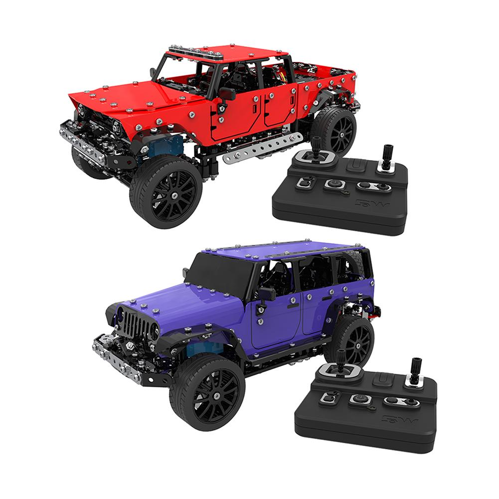 New Cool Mini DIY Alloy Assembled Remote Control Toys Car 1:16 Stainless Steel Four-channel Remote Car Kids Toys RC Car Toys