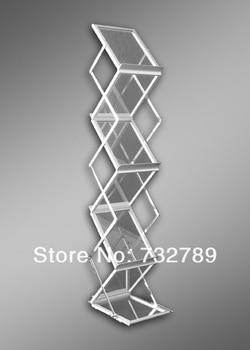A4 Aluminum Literature Display Magazine Rack Brochure Holder with Aluminum Case BST7-3