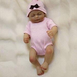 "Image 5 - OtardDolls bebe reborn doll 10"" Full slicone adorable reborn baby dolls Handmade Painting Hair Gift Bonecas  Bath toy"