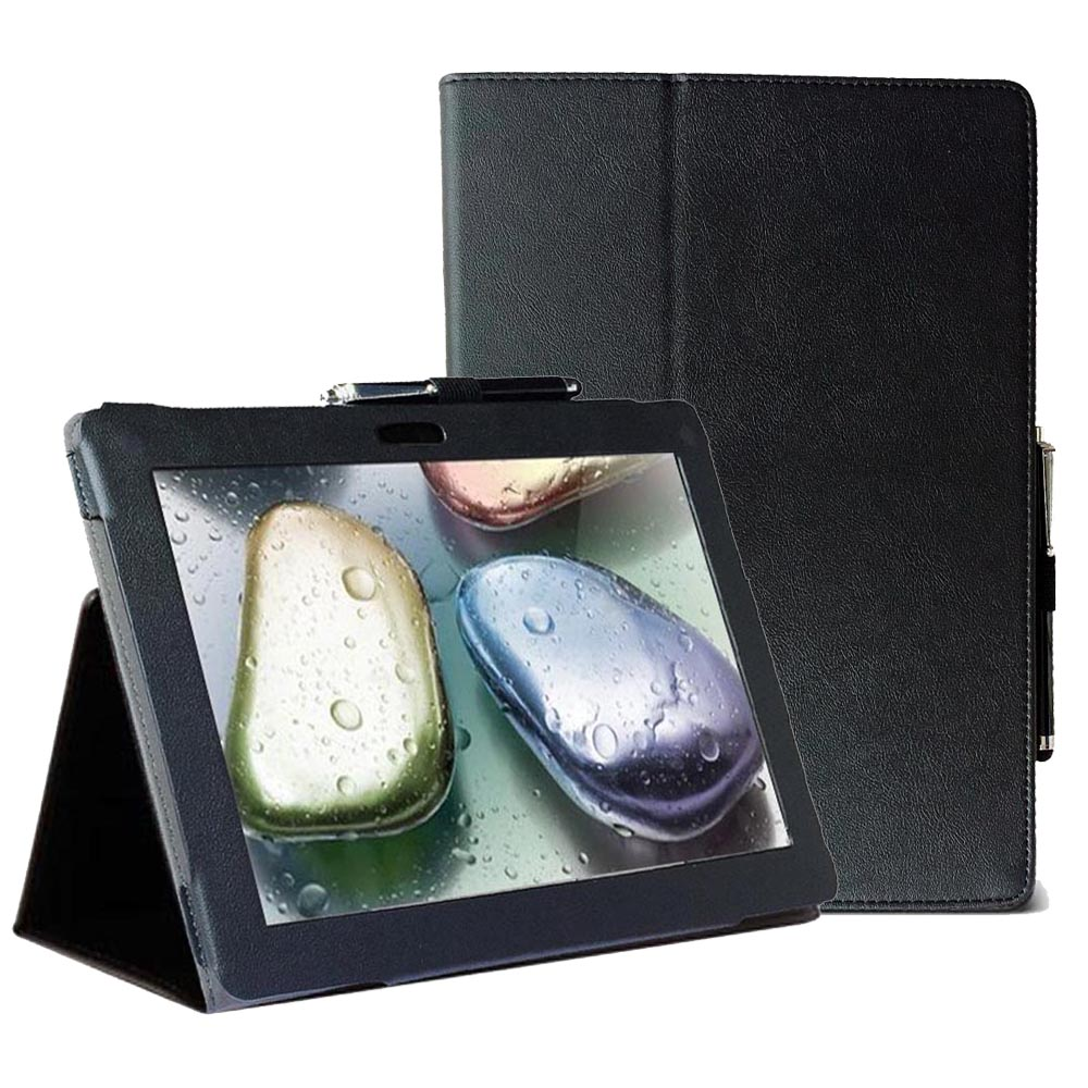 S6000 Pu leather slim folio flip smart book cover case for Lenovo ideapad 10.1 inch S6000 L H F sleeve cover pouch with stand