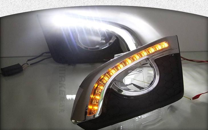 2014-15 Chevy Captiva LED DRL daytime running light super bright exact install plating version with yellow turn signals